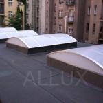 Pásový obloukový světlík ALLUX - výměna sedlových světlíků za obloukové - Praha 7