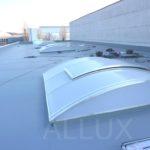 obloukový světlík ALLUX - strojírny Brno, přístavba výrobní haly v Kuřimi